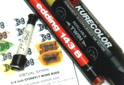 VIRTUAL NYMPH 58316 Имитация зачатков крыльев Stonefly Wing Buds (фото, вид 1)