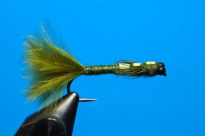 A.Jensen 14203 Мушка нимфа Olive Damsel (фото, вид 1)