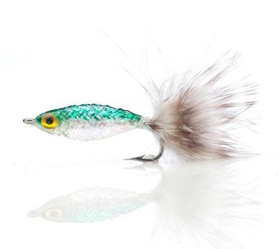 A.Jensen 15102 Мушка стример Twinkle Tube Fish Green (фото, вид 1)