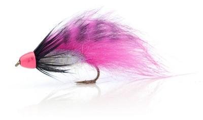 A.Jensen 15120 Мушка стример Zonker Cone Grizzly Pink (фото, вид 1)