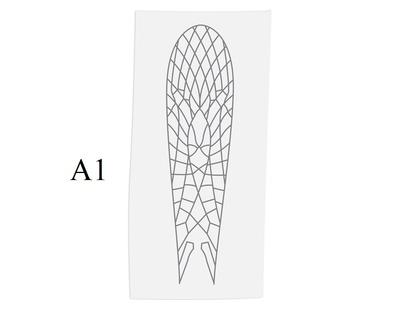 J:son&Co 58305 Заготовки для имитаций крылышек Realistic Wing Material for Stoneflies (фото, вид 5)