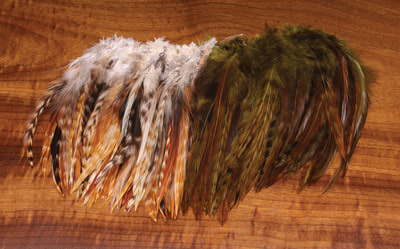 Hareline 53155 Перья из седла петуха Wolly Bugger Saddle Hackle (фото, вид 1)