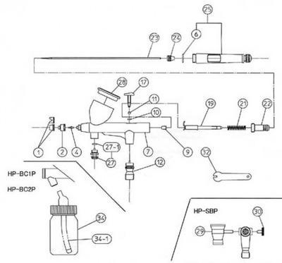 Toho 41481 Аэрограф Airbrush Starter Kit (фото, вид 2)