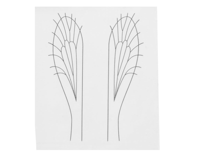 J:son&Co 58310 Заготовки для имитаций крылышек Realistic Wing Material For Caddis Pupa / Wasp / Ant / Hopper (фото, вид 5)