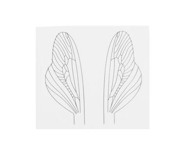 J:son&Co 58311 Заготовки для имитаций крылышек Realistic Wing Material For Caddis Spent / Stonefly Spent (фото, вид 3)