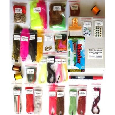 4Trouts 59512 Набор материалов для вязания мушек на щуку Pike Flies Set (фото, вид 1)