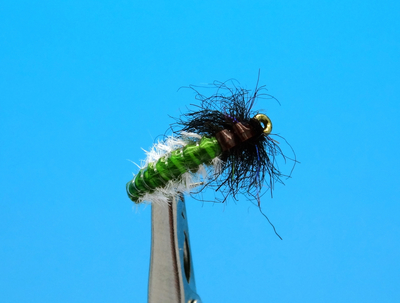 Artflies 14393 Мушка нимфа ручейника Vinyl Back Caddis Larva Green (фото, вид 1)