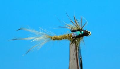 Artflies 14399 Мушка нимфа поденки Realistic Extended Body Swimming Nymph Flashback Olive (фото, вид 1)