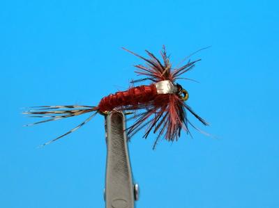 Artflies 14405 Мушка нимфа Bead Thorax Vinyl Rib Nymph Red Brown (фото, вид 1)