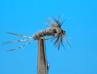 Artflies 14406 Мушка нимфа Bead Thorax Vinyl Rib Nymph Gray (фото, вид 1)