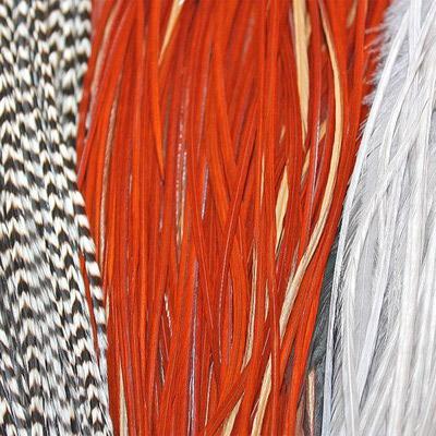 WHITING™ 53254 Четвертинки петушиного седла 1/4 Rooster Dry Fly Saddle SILVER (фото, вид 1)
