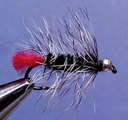 Crystal River 14434 Мушка нимфа BH Wooly Worm Black (фото, вид 1)