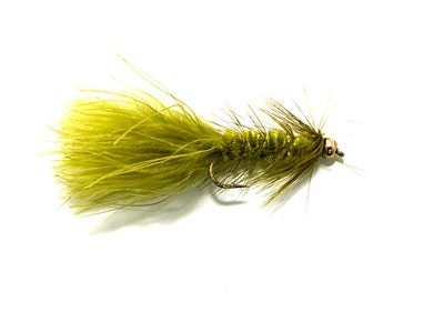Crystal River 15375 Мушка стример BH Olive Wooly Bugger (фото, вид 1)