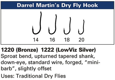 Daiichi 60376 Крючок одинарный 1220 Darrel Martin's Dry Fly Hook (фото, вид 2)