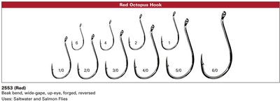 Daiichi 60384 Крючок одинарный 2553 Octopus Intruder Trailer Hook Salmon Red (фото, вид 5)