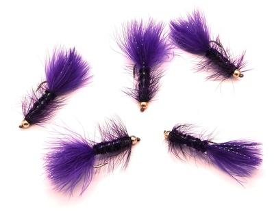 Pacific Fly Group 15364 Мушка стример BH Kristal Bugger Purple (фото, вид 1)