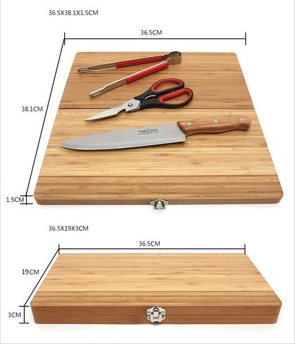 ChanoDug 81427 Кухонный набор Outdoor Folding Cutting Board With Kitchen Tools (фото, вид 8)