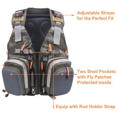 Maxcatch 70301 Рюкзак-разгрузка Fly Fishing Backpack (фото, вид 7)