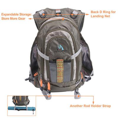 Maxcatch 70301 Рюкзак-разгрузка Fly Fishing Backpack (фото, вид 8)