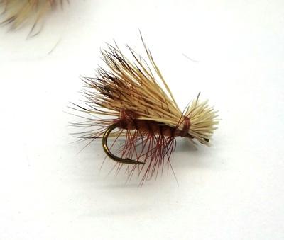 Pacific Fly Group 11121 Сухая мушка Elk Hair Caddis Brown (фото, вид 2)