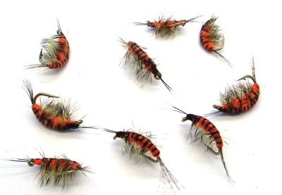 SFT-studio 14035 Мушка имитация бокоплава Freshwater Shrimp Orange Striped (фото, вид 1)