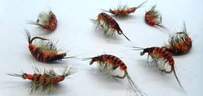 SFT-studio 14035 Мушка имитация бокоплава Freshwater Shrimp Orange Striped (фото, вид 2)