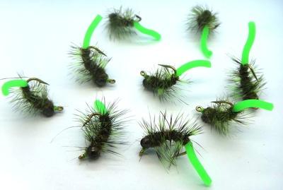 SFT-studio 14051 Мушка нимфа Squirm Tasty Bug Olive/Chart (фото, вид 1)