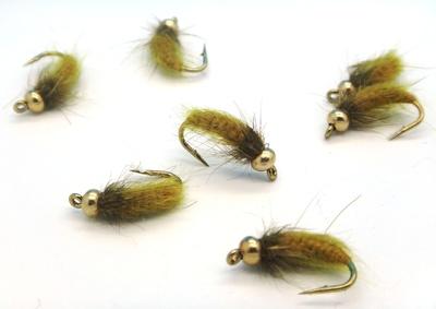 Mikkus & Caddis 14232 Мушка нимфа личинка ручейника BH Fluffy Caddis Larva Golden Olive (фото, вид 2)