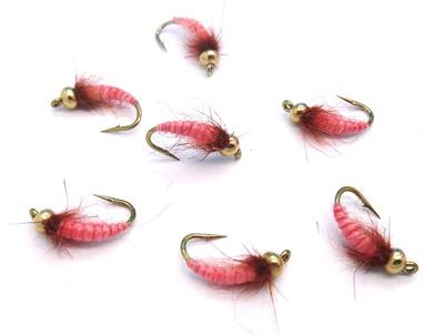 Mikkus & Caddis 14218 Мушка нимфа ручейника GH Caddis Larva Bloody Pink (фото, вид 1)