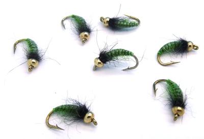 Mikkus & Caddis 14221 Мушка нимфа ручейника GH Caddis Larva Green Olive (фото, вид 1)