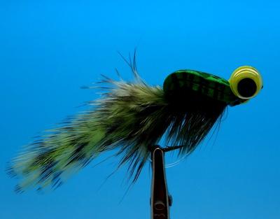 Pacific Fly Group 15382 Имитация лягушки Chip's Peeper Frog Olive (фото, вид 1)