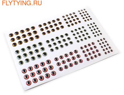 FLY-FISHING 58098 Самоклеющиеся глазки 3D Lure Eyes Set III (фото, вид 1)