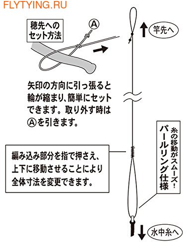 Gamakatsu 21259 Готовая оснастка кейрю Mountain Stream Free Type Ceiling Thread Device II (nylon specification) KJ-102 (фото, Gamakatsu KJ-102 )