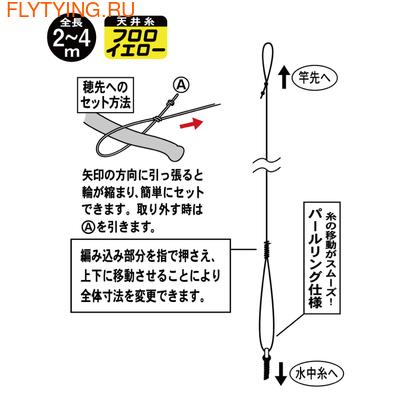 Gamakatsu 21260 Готовая оснастка кейрю Mountain stream free ceiling thread device II (fluorocarbon specification) KJ-103 (фото, вид 1)
