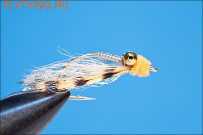 Rusangler 18006 Морская мушка Mini Puff Cree Orange