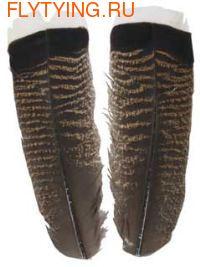 WAPSI 53128 Хвостовые перья индейки MOTTLED WHITE TIPPED TURKEY TAIL