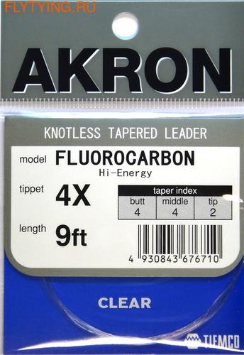 TIEMCO 10503 Конусный нахлыстовый подлесок Akron Fluoro Leader Hi-Energy (фото)