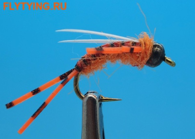SFT-studio 14050 Мушка нимфа BH Prince Nymph Rubber Leg Hot Orange (фото)