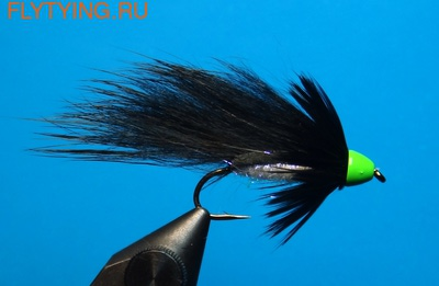 A.Jensen 15116 Мушка стример Zonker Cone Black (фото)