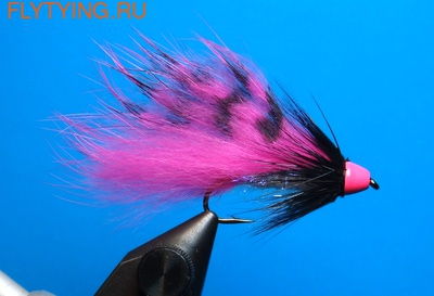 A.Jensen 15120 Мушка стример Zonker Cone Grizzly Pink (фото)