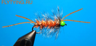 A.Jensen 15124 Мушка стример Hot Head Bugger Orange (фото)