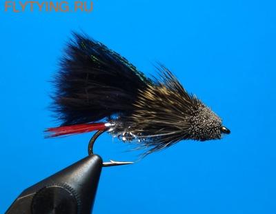 A.Jensen 15135 Мушка стример Muddler Marabou Black (фото)