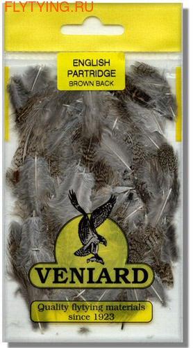 Veniard 53184 Перо куропатки English Partridge Brown Back