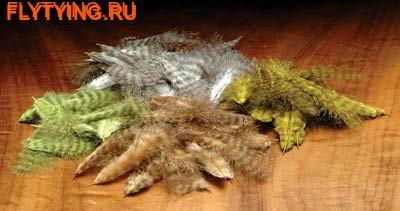 Hareline 53188 Полосатые перья марабу Grizzly Mini Marabou (фото)