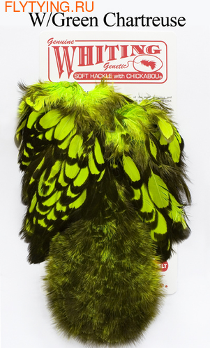 WHITING™ 53214 Перья курицы American Hen Soft Hackle with Chicabou(SH/C) (фото)