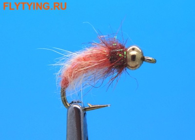Mikkus & Caddis 14217 Мушка нимфа ручейника BH Fluffy Caddis Larva Orange (фото)