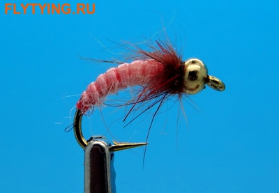 Mikkus & Caddis 14218 Мушка нимфа ручейника GH Caddis Larva Bloody Pink (фото)