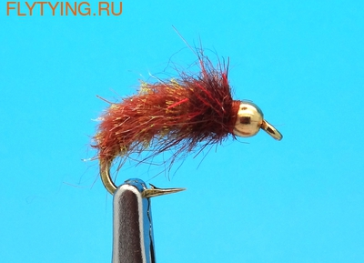 Mikkus & Caddis 14224 Мушка нимфа куколка ручейника GH Caddis Pupa Golden Brown