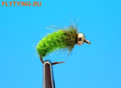 Mikkus & Caddis 14231 Мушка нимфа куколка ручейника GH Caddis Pupa Ribbing Insect Green/Chartreuse