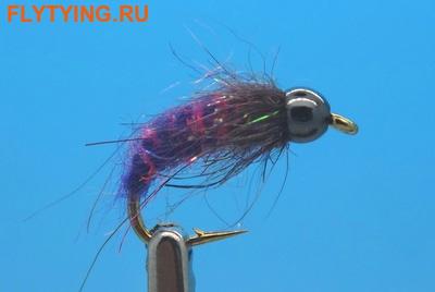 Mikkus & Caddis 14234 Мушка нимфа личинка ручейника BH Fluffy Caddis Larva Purple (фото)